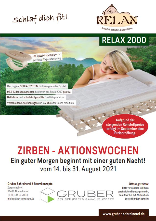 Zirben-Aktionswochen vom 14. bis 31. August 2021